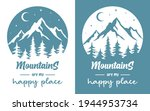 mountains vector sign with... | Shutterstock .eps vector #1944953734