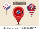tennessee us state round flag.... | Shutterstock .eps vector #1944964087