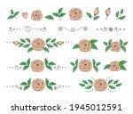 art hand drawn botanical set of ... | Shutterstock . vector #1945012591