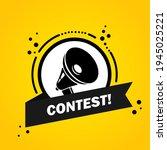 megaphone with contest speech...   Shutterstock .eps vector #1945025221