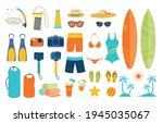 summer objects and equipments...   Shutterstock .eps vector #1945035067