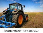 huge tractor in the field   in... | Shutterstock . vector #194503967