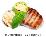 grilled steak and grilled... | Shutterstock . vector #194505434