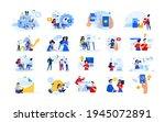 set of modern flat design... | Shutterstock .eps vector #1945072891