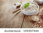 bowl of various flakes porridge ... | Shutterstock . vector #194507444