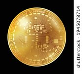golden coin with abstract... | Shutterstock .eps vector #1945078714