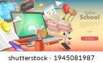 3d isometric flat vector... | Shutterstock .eps vector #1945081987