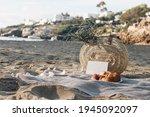 summer mock up. vacation picnic ... | Shutterstock . vector #1945092097