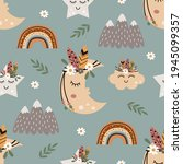 seamless pattern with tribal... | Shutterstock .eps vector #1945099357