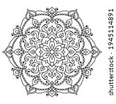 mandala coloring book page.... | Shutterstock .eps vector #1945114891