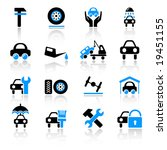 auto service icons | Shutterstock .eps vector #19451155