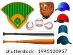 Baseball Equipment Set. Field....