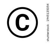 copyright symbol icon vector...   Shutterstock .eps vector #1945135054