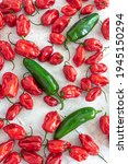 Red Habanero Peppers With Three ...