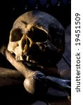 Real Skull And Bones Over A...