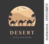 arabian logo caravan camels in...   Shutterstock .eps vector #1945158874