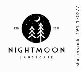 night moon landscape with pine...   Shutterstock .eps vector #1945170277
