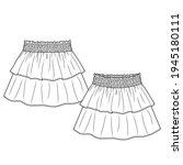 baby girls short skirt fashion... | Shutterstock .eps vector #1945180111