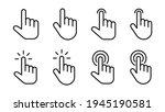 hand cursor icon set. cursor... | Shutterstock .eps vector #1945190581