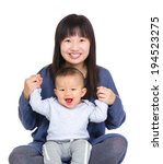 happy mother and baby son | Shutterstock . vector #194523275