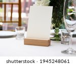 mockup white blank space card ... | Shutterstock . vector #1945248061