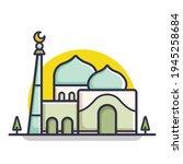 ramadhan kareem simple and...   Shutterstock .eps vector #1945258684