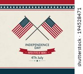 abstract independence day... | Shutterstock .eps vector #194528471