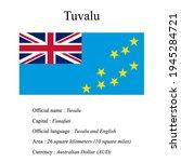 tuvalu national flag  country's ...   Shutterstock .eps vector #1945284721