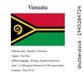 vanuatu national flag  country...   Shutterstock .eps vector #1945284724