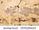 cracked concrete wall. texture... | Shutterstock . vector #1945285624