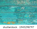 Wooden Background With Teal...