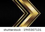 abstract gold arrow shadow...   Shutterstock .eps vector #1945307131