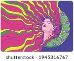 portrait of beauty woman... | Shutterstock .eps vector #1945316767