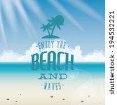 abstract summer vacation...   Shutterstock .eps vector #194532221