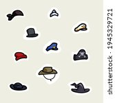 set of hats from among us   Shutterstock .eps vector #1945329721