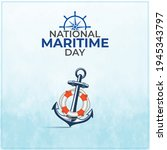 national maritime day. abstract ... | Shutterstock .eps vector #1945343797