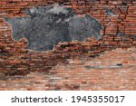 old brick wall. destroyed... | Shutterstock . vector #1945355017