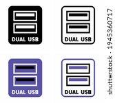 """dual usb"" vector information... | Shutterstock .eps vector #1945360717"