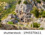 Ancient Lycian Rock Tomb Ruins...
