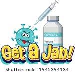 get a jab font with coronavirus ... | Shutterstock .eps vector #1945394134