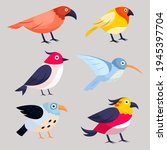 birds collection. different...   Shutterstock .eps vector #1945397704