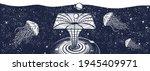 black hole in universe. black...   Shutterstock .eps vector #1945409971