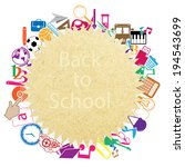 back to school on paper... | Shutterstock .eps vector #194543699