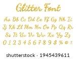 gold sparkling glitter font in... | Shutterstock .eps vector #1945439611