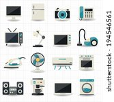 household appliances and... | Shutterstock .eps vector #194546561