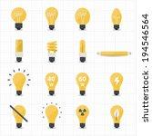 llight bulb icons | Shutterstock .eps vector #194546564