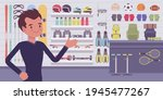 small scale business owner ... | Shutterstock .eps vector #1945477267