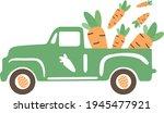 easter truck svg vector... | Shutterstock .eps vector #1945477921
