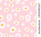 Seamless Pattern With Paw...