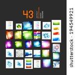 mega set of business geometric...   Shutterstock .eps vector #194549921